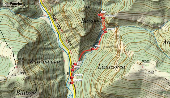Mapa del recorrido 873