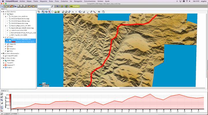 Mapa de relieves 2x2m Roncal-Belagua