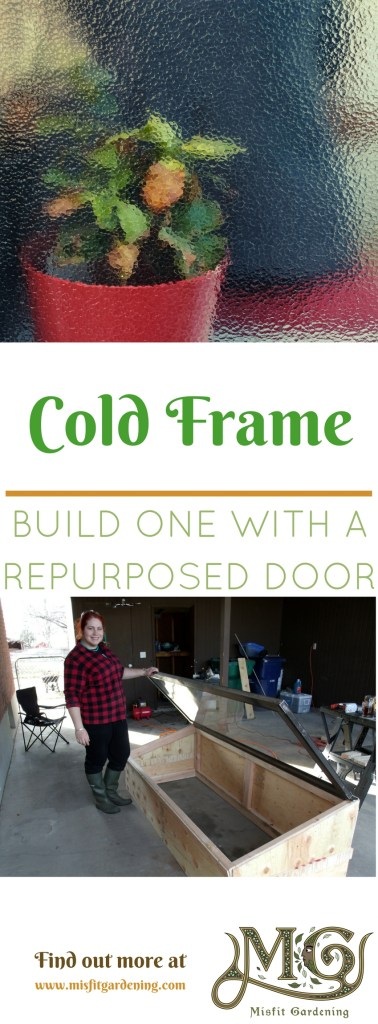 How to build a cold frame using a repurposed door. Click to find out how to upcycle a door to grow food or pin it and save it for later.