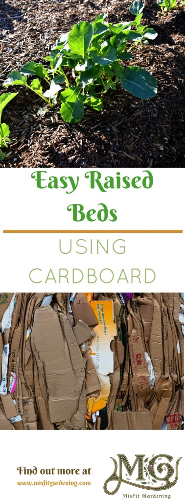 How to build easy raised beds using cardboard. Click to find out how or pin it and save it for later.