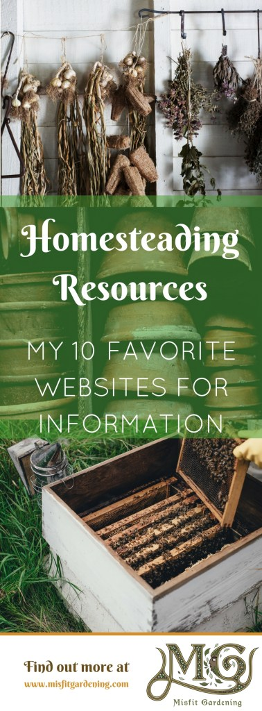 Everyone has their favorite homesteading websites to go to for information. Click to find out my ten favorite places or pin it and save it for later