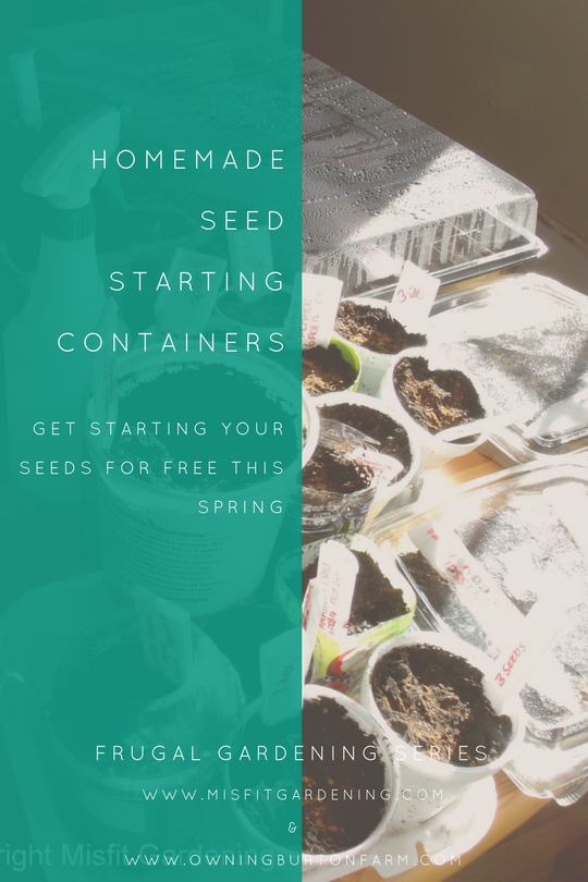 DIY seed starting containers from items you already have at home. Click through to find out more or pin it to save for later.