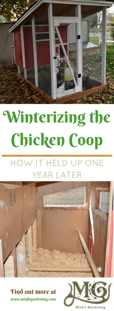How to winterize a chicken coop. Click to find out how the insulation worked one year later or pin it and save it for later
