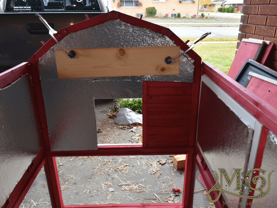 how to insulate a prefab chicken coop
