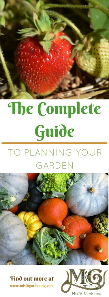The complete guide to planning a garden to grow all of your family's food need not be a daunting task. Click to find out how to plan a garden for self sufficiency or pin it and save it for later