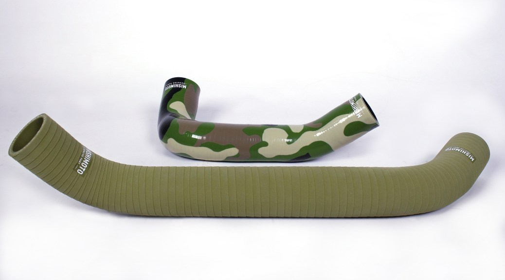 Mishimoto's new camouflage and matte olive-drab silicone radiator hoses