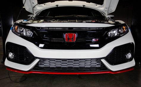 From one Si to the next. You might recall that we did test fit our intercooler on the most recent iteration of Honda's spiced up Civic, and since the engine bay is identical, the piping is the same story.