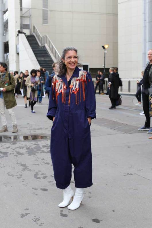 mode journalist (NRC) Milou van Rossum in Dries van Noten