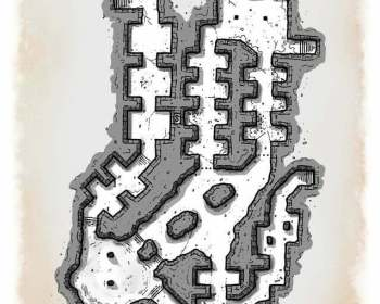 Catacomb passage dungeon map
