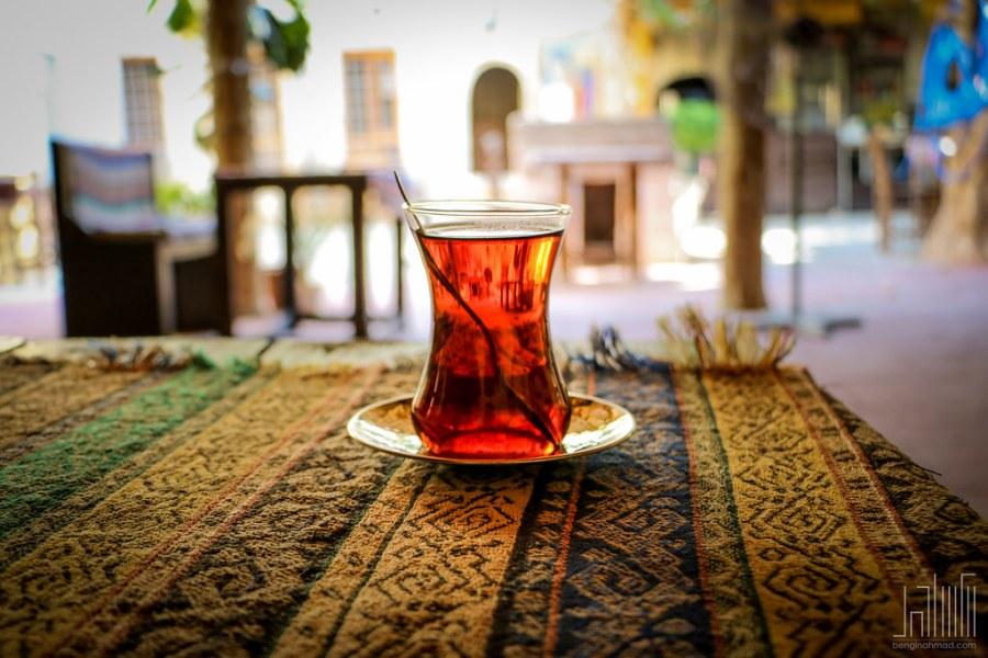 The ubiquitous Turkish tea glass