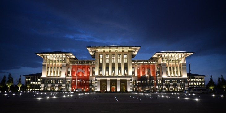 ANKARA, TURKEY - OCTOBER 28 2014: A general view of Turkey's new Presidential Palace. (Photo by Volkan Furuncu/Anadolu Agency/Getty Images) Source: Huffington Post