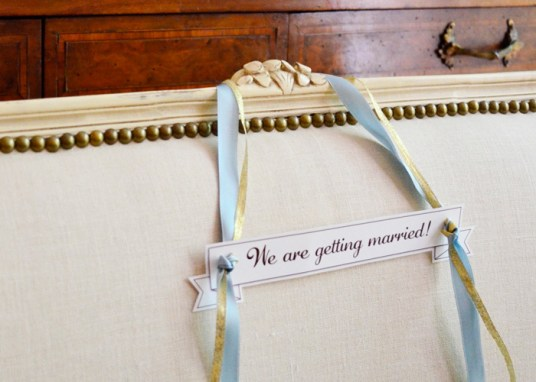 Make the couple feel special with this chair marker.