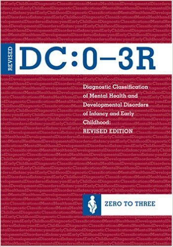 """Diagnostic Classification of Mental Health and Developmental Disorders of Infancy and Early Childhood, (DC: 0-3R) by Zero to Three Did you know that there is another diagnostic manual beside the DSM-5 and the ICD-10? Many psychiatrists and medical doctors don't know about this manual which is widely used by developmental pediatricians and those who work with very young children. A parent can easily read this manual, and you may find this different way of understanding the """"whole"""" child surprisingly sensible."""