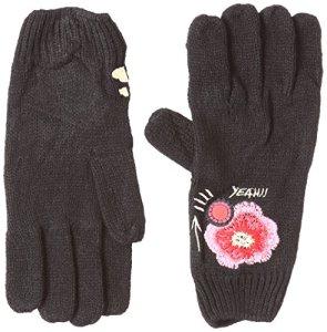 Desigual Gloves_Yeah, Gants Femme, Noir (Negro 2000), Taille Unique (Taille Fabricant: One Size)