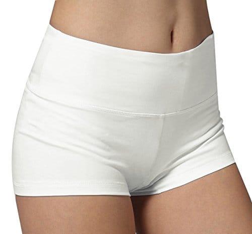 Pantacourt de sport short femme boyfriend sport shorty blanc culotte de sportif,M