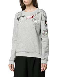 Valentino Femme Nb3mf03i3dv080 Gris Coton Sweatshirt