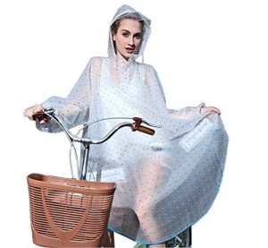 K-way Femme Poncho-pluie Capuche Imperméable Vêtement de pluie Transparent – Très Chic Mailanda (Bleu) Taille unique