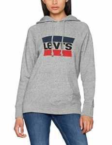 Levi's Graphic Hoodie, Pull de Sport Femme, Gris (Sportswear Hoodie Smokestack Htr 0), X-Large