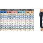 Alice & Elmer Denim Jeans Stretch Taille Haute Slim Skinny,Jeans Femme,Bleu 28W x 30L