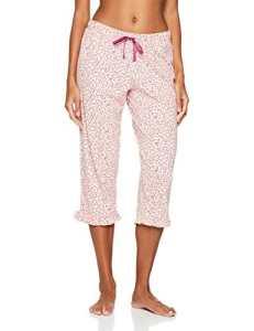 Iris & Lilly Bas de Pyjama 3/4 Imprimé Femme, Multicolore (Pink/cream), XX-Large