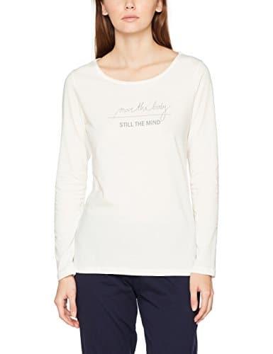 Marc O'Polo Body & Beach Mix Shirt LS, Haut de Pyjama Femme, Weiß (Off-White 102), 38