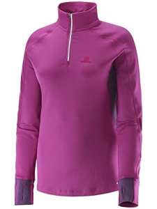Salomon Trail Runner Warm Women's 1/2 Zip T-shirt Course à Pied – L