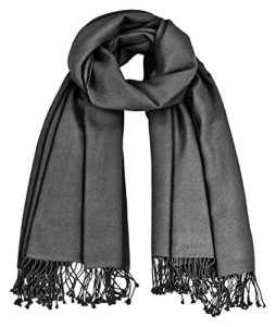 Silex premium ensemble maharanis gris 100% cachemire double fils 90 x 200 cm