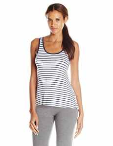 Splendid Mesh Trim Tank, Haut de Pyjama Femme, Multicolore-Multicoloured (Tropical Multistripe Blue Lagoon), Small