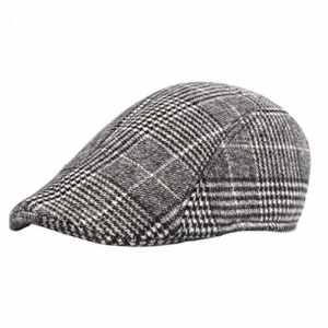 Aikesi Unisexe Béret Casquette Plate Vintage Rétro Homme Maille Élégant Chapeau de Cotton Hommes et Femmes Chapeau, Mélange de couleurs, 55 – 60 Cm (réglable)
