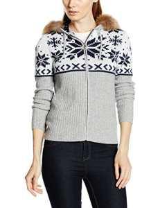 Bogner Fire + Ice Veste en tricot Naomi 40 gris clair
