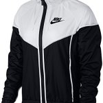Nike W Nsw WR Jkt Veste Femme, Noir/Blanc/Noir, FR : S (Taille Fabricant : S)