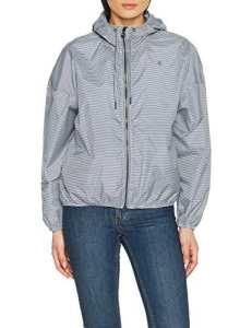 Petit Bateau Coupe, Manteau Imperméable Femme, Bleu (Smoking/Marshmallow), Large (Taille Fabricant: L)