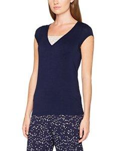 Pour Moi? Moonstruck Short Sleeve Secret Support Top, Haut de Pyjama Femme, Bleu Marine, 44
