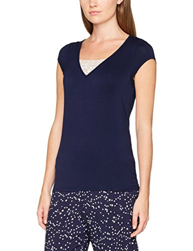 Pour Moi? Moonstruck Short Sleeve Secret Support Top, Haut de Pyjama Femme, Bleu Marine, 44