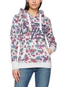 Superdry Supr Beach Aop Lite Entry, Sweat à Capuche Femme, Grigio (Ice Marl), X-Small