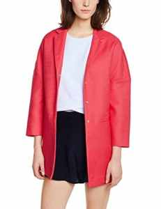 United Colors of Benetton boyfriend coat – Manteau – Manches longues – Femme – Rouge – 40 (Taille fabricant:Medium)