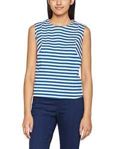 Hilfiger Denim Thdw Stripe CN Knit S/L 40, Débardeur Femme, Blanc (Limoges/Bright White), Small