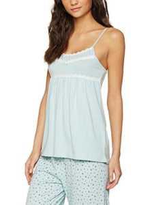 Iris & Lilly Débardeur de Pyjama Soft Touch Femme, Bleu (Sterling Blue), X-Large