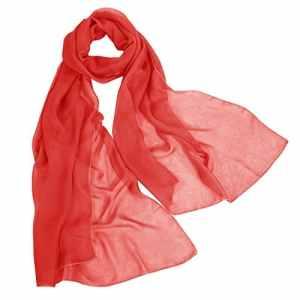 Bbonlinedress écharpe/châle/foulard/étole/pashmina en mousseline polyester,Rouge 200cm×75cm