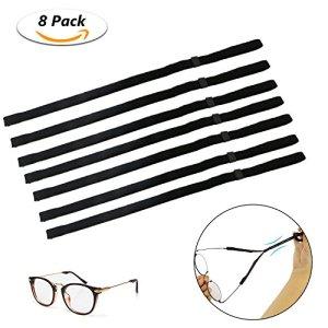 Emooqi Cordon sport pour lunettes et lunettes de soleil, ajustement universel Corde de lunettes, lunettes Système de rétention