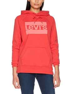 Levi's Graphic Sport Hoodie, Sweat-Shirt à Capuche Femme, Rouge (Fleece Sportswear Logo Pfd To Match Poinsettia 0008), Large