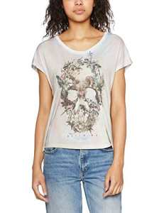 Religion Intense, T-Shirt Femme, Grey (Skull Illusion), 38