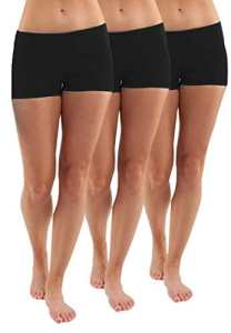3x Shorts Femme sport fitnesss shorty noir fille Pantalon court sportif strech courir shorts,S
