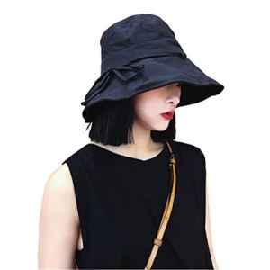 Chapeau De Soleil Somen Noir été matériel de toile de coton
