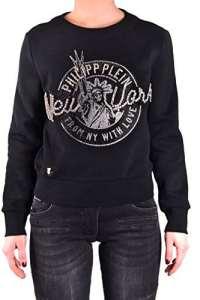 Philipp Plein Femme Mcbi237020o Noir Coton Sweatshirt