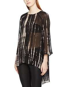 Religion Symbolic, Blouse Femme, Noir (Black/White), 36 (Taille Fabricant:X-Small)