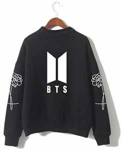SERAPHY BTS Pulls Bangtan Boys Love Yourself BTS Sweatshirts à col roulé pour l'armée Suga Jin Jimin Jung Kook J-Hope Rap-Monster V noir S