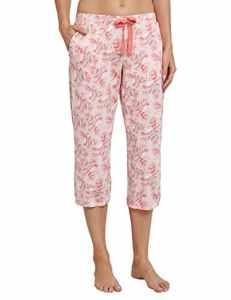 Schiesser Jerseyhose 3/4 Lang, Bas de Pyjama Femme, Rot (Sorbet 524), 40