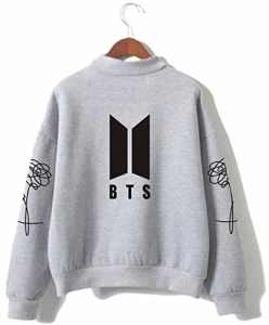 SERAPHY BTS Pulls Bangtan Boys Love Yourself BTS Sweatshirts à col roulé pour l'armée Suga Jin Jimin Jung Kook J-Hope Rap-Monster V gris 2XL