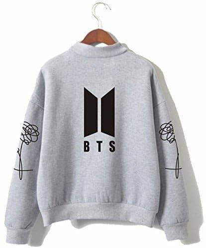 SERAPHY BTS Pulls Bangtan Boys Love Yourself BTS Sweatshirts à col roulé pour l'armée Suga Jin Jimin Jung Kook J-Hope Rap-Monster V gris 2XL